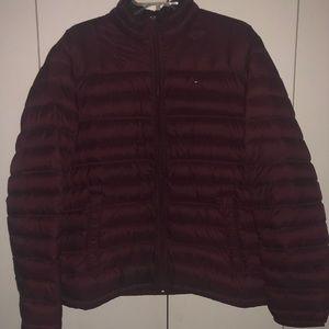 Burgundy Tommy Hilfiger Puffer Jacket